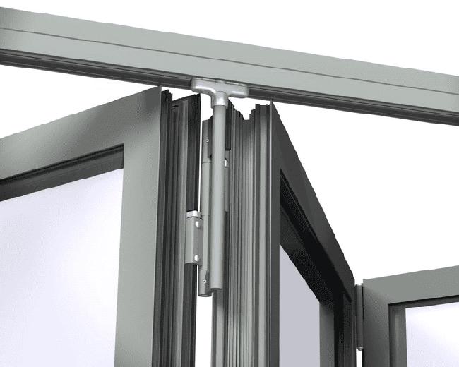 Phụ kiện cửa xếp trượt – Bản lề nối cánh cửa với ray trượt khung trên.