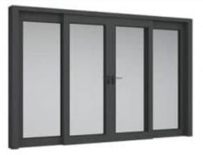 Cửa sổ nhôm Xingfa 4 cánh mở lùa Xingfa
