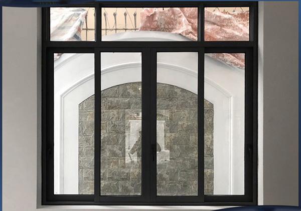 Mẫu cửa sổ mở trượt 4 cánh nhôm Xingfa hệ 93 dày 2.0mm