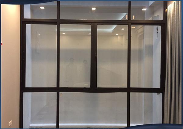 Mẫu cửa sổ mở trượt 4 cánh nhôm Xingfa nhập khẩu hệ 93 dày 2.0mm mầu Đen tuyền